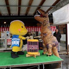 新春!恐竜新年会!「恐竜太鼓」披露!